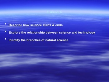 "Introduction to Physics Lesson I PowerPoint ""What is Science?"""