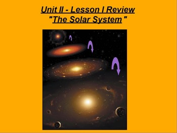 "ActivInspire Review Unit II Lesson I ""The Solar System"""