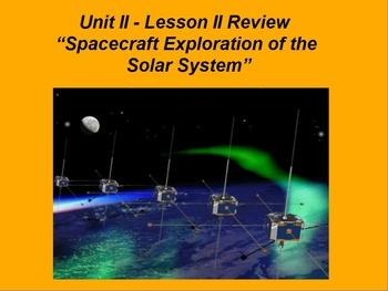 "ActivInspire Review Unit II Lesson II ""Spacecraft Exploration - Solar System"""