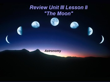 "ActivInspire Review Unit III Lesson II ""The Moon"""