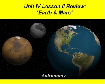 """ActivInspire Review Unit IV Lesson II """"Earth & Mars"""""""