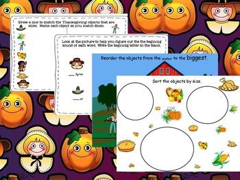 ActivInspire & PDF Thanksgiving Activities
