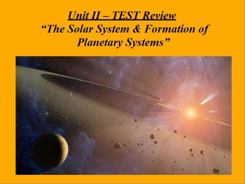 "ActivInspire Unit II Test Review ""The Solar System"""