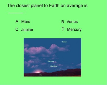 """ActivInspire Unit IV Test Review """"The Inner Planets"""""""