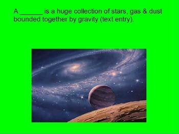 "ActivInspire Unit IX Lesson I Review ""The Milky Way"""