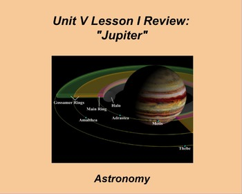 "ActivInspire Unit V Lesson I Review ""Jupiter"""