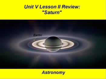 "ActivInspire Unit V Lesson II ""Saturn"" Review"