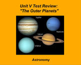 """ActivInspire Unit V Test Review """"The Outer Planets"""""""