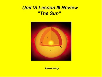 "ActivInspire Unit VI Lesson III Review ""The Sun"""