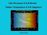 """ActivInspire Unit VII Lesson II & III Review """"Stellar Temperature & HR Diagrams"""""""
