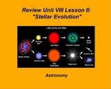 "ActivInspire Unit VIII Lesson II Review ""Stellar Evolution"""