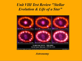 "ActivInspire Unit VIII Test Review ""Stellar Evolution and Life of a Star"""