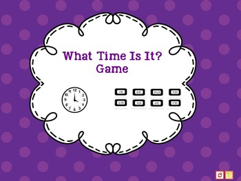"""""""ActivInspire - What Time Is It? Game"""" FREEBIE"""