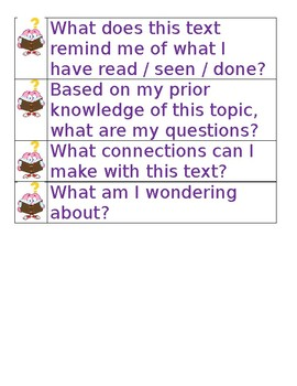 Activate Prior Knowledge Key Questions