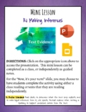 Activating Strategy: Making Inferences and/or Supporting C