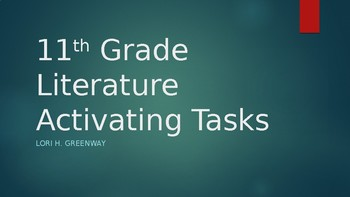 Activating Tasks PowerPoint