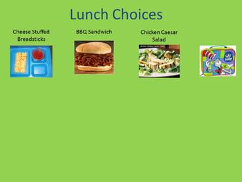 Activboard Lunch Choices