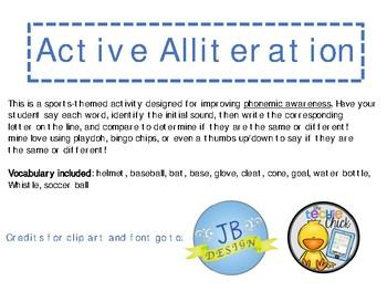 Active Alliteration