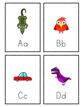 Active Alphabet Flash Cards
