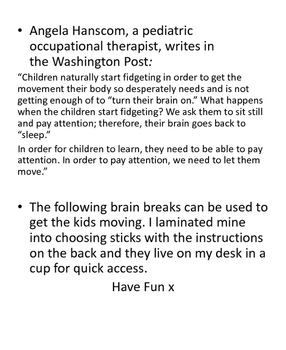Active Brain Breaks Activity