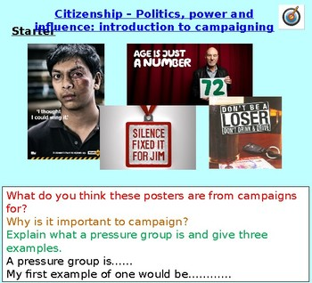 Active Citizenship: Campaigning