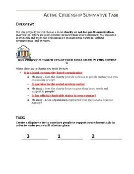 Active Citizenship Summative Task