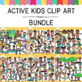 Active Kids Clip Art GROWING Bundle