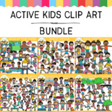 Active Kids Clip Art Bundle {Action Clip Art}