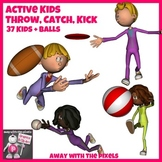 Active Kids Throw, Catch and Kick 37 Color and Black & Whi