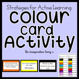 Active Learning Colour Card Activity