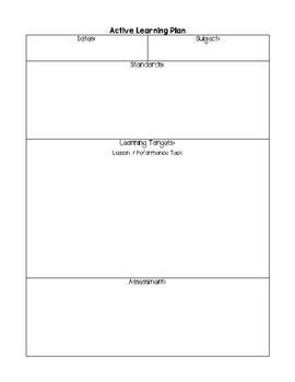 Active Learning Plan Template
