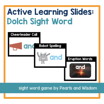Sight Word Games | Active Learning Slides | Low-Prep