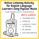Active Listening Activity for English Language Learners using Popular Music