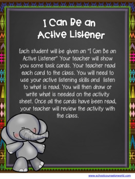 A Guidance Lesson on Active Listening, Grades K-1