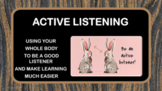 READY TO USE (NO PREP) Active Listening w 2 Videos & 3 Activities BACK TO SCHOOL