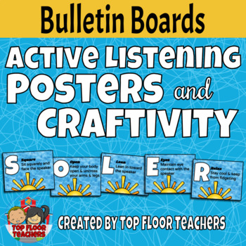 Active Listening Posters and Craftivity