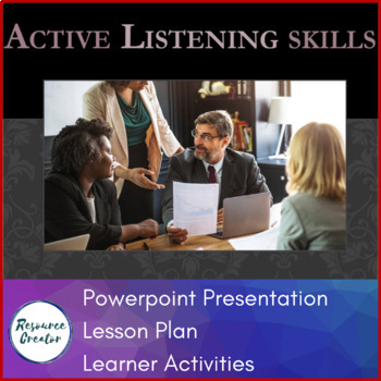 Active Listening Powerpoint Presentation and Activities