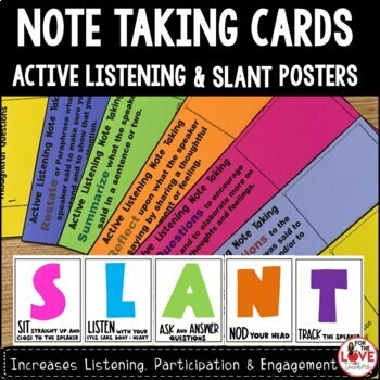 Active Listening Response Note Taking Cards