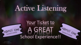 Active Listening Study Skills Respect Lesson 5 video links 3 Activities PBIS