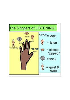 """Active Listening Visual- """"Show me 5"""""""