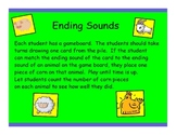 Active Literacy Ending Sounds Game