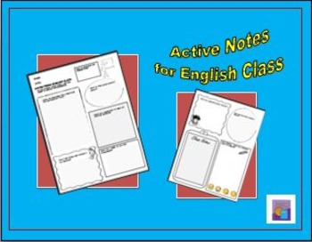NEW ITEM Active Notes for English Class