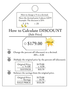 Active Notetaking in Math [Foldables]: Finding Discounts/Sale Price