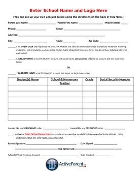 Active Parent Student Information Form