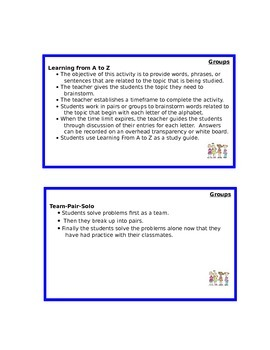 Active Participation Strategies