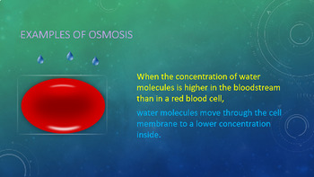 Active & Passive Transport, Diffusion & Osmosis Animated PowerPoint
