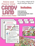 Active & Passive Voice practice using Candy Land board game