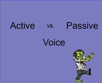 Active Passive Voice Zombie Trick Presentation