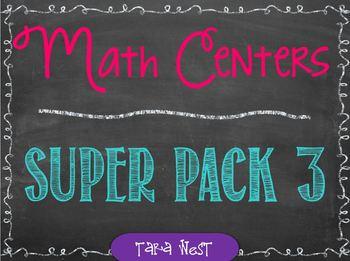 Math Centers Super Pack #3 {25 activities}