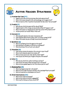 Active Reader Strategies. Modeling with 3-Column Chart (CCSS)